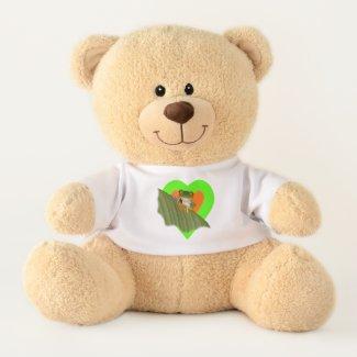 Red Eyed Gaudí Frog Teddy Bear