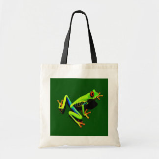 Red-Eyed Green Tree Frog Canvas Bags