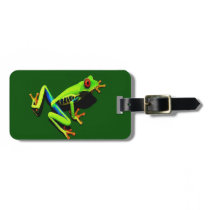 Red-Eyed Green Tree Frog Bag Tag