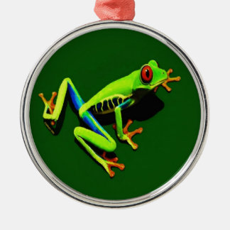 Red-Eyed Green Tree Frog Metal Ornament