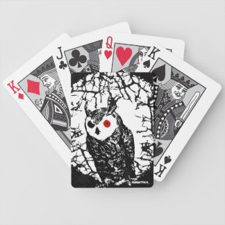 Red Eyed Owl Bicycle Playing Cards