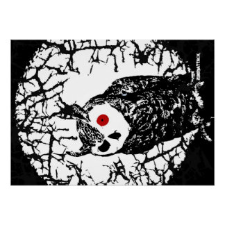 Red Eyed Owl Poster