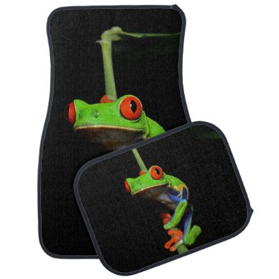 Red Eyed Painted Tree Frog Car Floor Mat