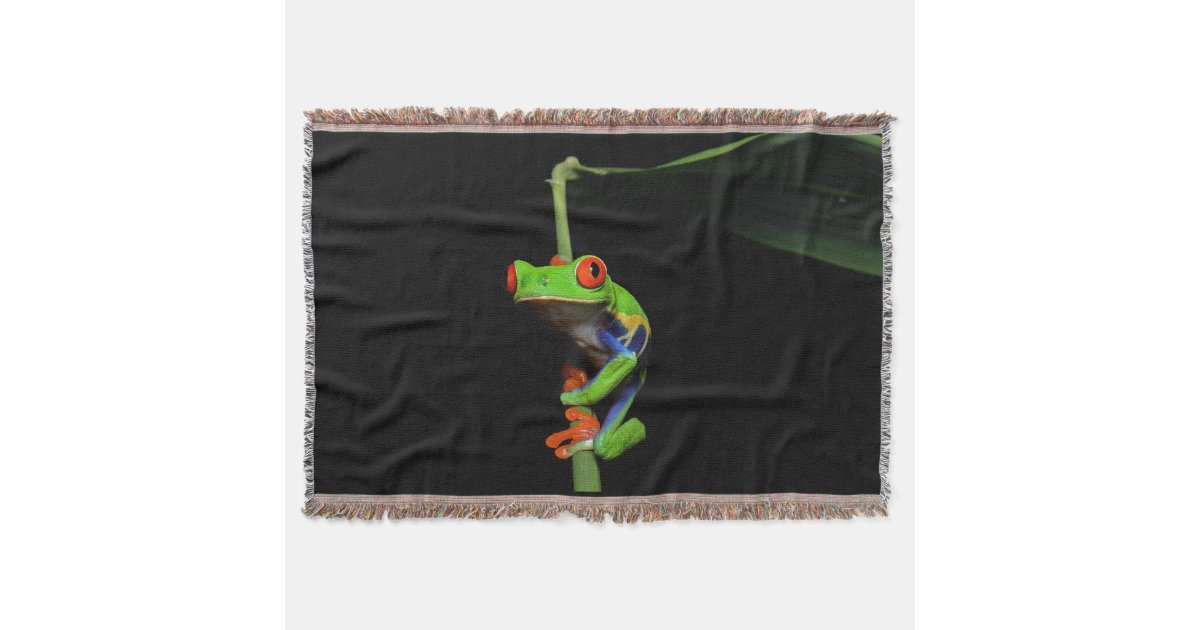 Red Eyed Painted Tree Frog Throw Blanket Zazzle Com