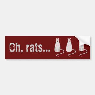 Red-Eyed Rats Bumper Sticker