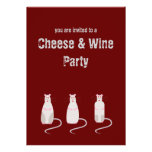 Red-Eyed Rats Cheese & Wine Party Invitation
