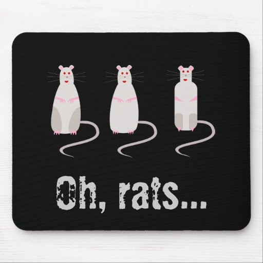 Red-Eyed Rats Mousepad 2