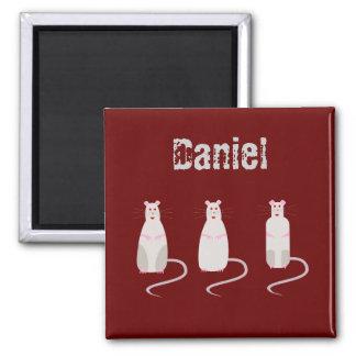 Red-Eyed Rats Name Fridge Magnet Daniel
