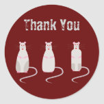 Red-Eyed Rats Thank You Sticker