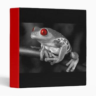Red Eyed Tree Frog 3 Ring Binder