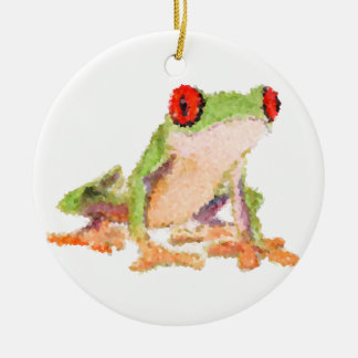 Red-eyed tree frog Baby Jersey Bodysuit Ceramic Ornament