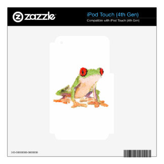Red-eyed tree frog Baby Jersey Bodysuit Decals For iPod Touch 4G