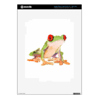 Red-eyed tree frog Baby Jersey Bodysuit iPad 3 Decals