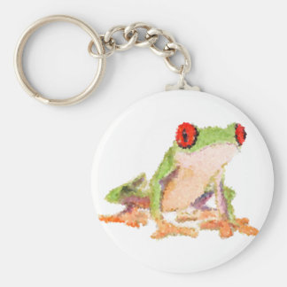 Red-eyed tree frog Baby Jersey Bodysuit Keychain