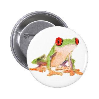 Red-eyed tree frog Baby Jersey Bodysuit Pinback Button