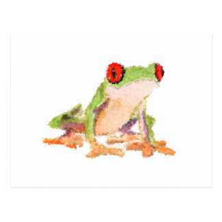 Red-eyed tree frog Baby Jersey Bodysuit Postcard