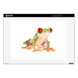 "Red-eyed tree frog Baby Jersey Bodysuit Skin For 15"" Laptop"