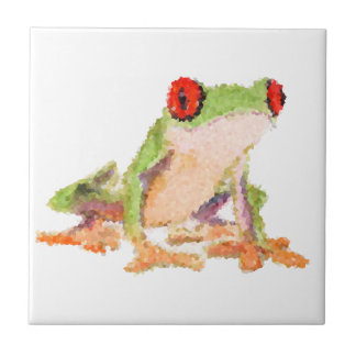 Red-eyed tree frog Baby Jersey Bodysuit Tile