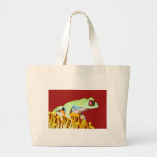 red eyed tree frog tote bags