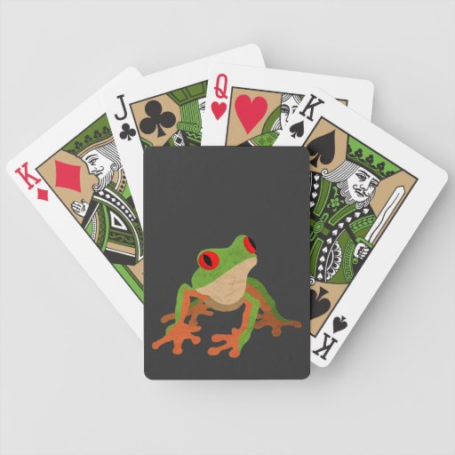 Red Eyed Tree Frog Bicycle Playing Cards