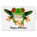 Red Eyed Tree Frog Birthday Greeting Card