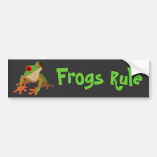 Red Eyed Tree Frog Bumper Sticker