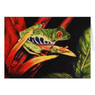 Red Eyed Tree Frog- Color Pencil 1991 Card