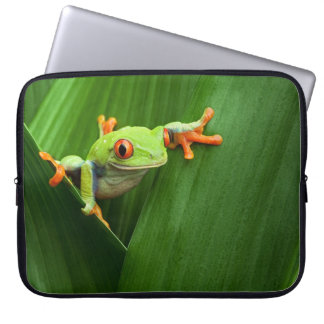 Red eyed tree frog computer sleeve