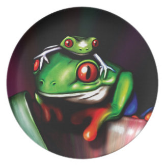 Red Eyed Tree Frog Dinner Plate