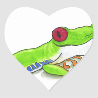 Red Eyed Tree Frog Heart Sticker