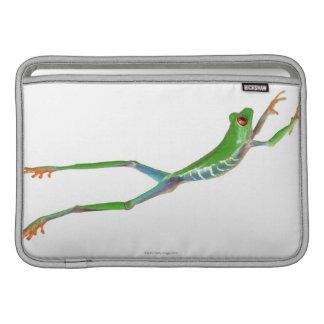 Red eyed tree frog jumping MacBook sleeve