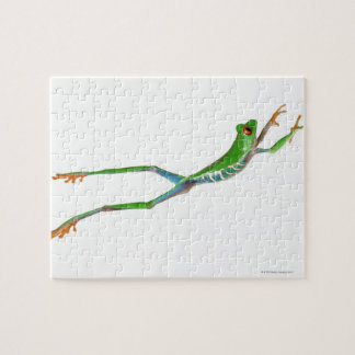 Red eyed tree frog jumping jigsaw puzzle