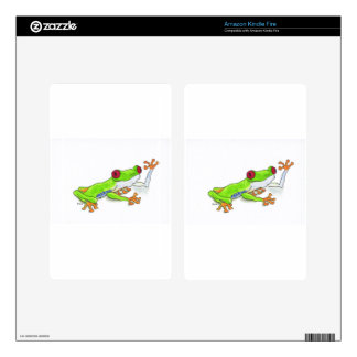 Red Eyed Tree Frog Kindle Fire Skins