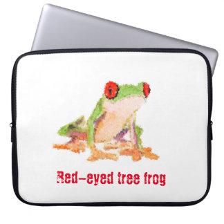 Red-eyed tree frog laptop sleeve