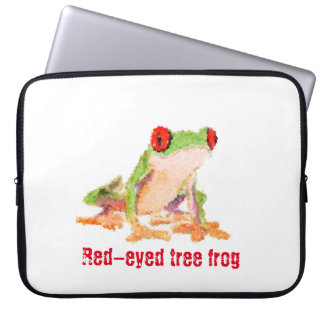 Red-eyed tree frog laptop sleeve