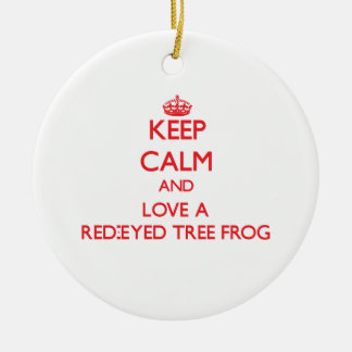 Red-Eyed Tree Frog Christmas Tree Ornament