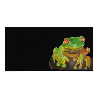 Red Eyed Tree Frog. Photo Card