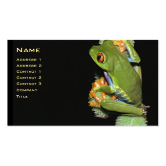 Red-eyed Tree Frog Profile Card - Customized Business Card