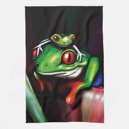 Red Eyed Tree Frog Towel