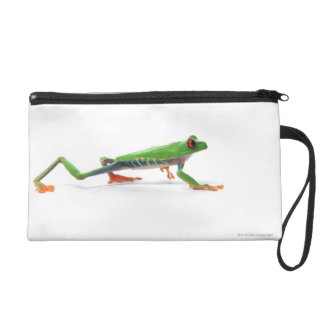 Red eyed tree frog walking wristlet purse