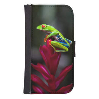 Red-eyed Tree Frog Wallet Phone Case For Samsung Galaxy S4