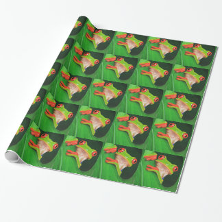 Red Eyed Tree Frog Wrapping Paper