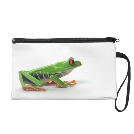 Red eyed tree frog wristlet purse