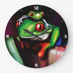 Red Eyed Tree Frogs Clock