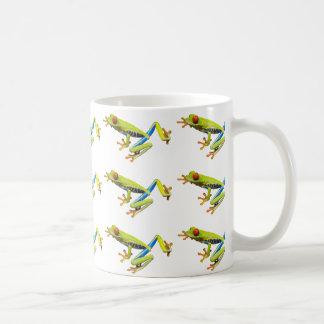 Red eyed tree frogs coffee mug