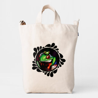 Red Eyed Tree Frogs Digital Painting Duck Bag