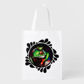 Red Eyed Tree Frogs Enviro Conscious Shopping Bag Market Tote