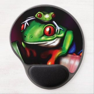 Red Eyed Tree Frogs Gel Mouse Pad