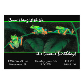 Red-Eyed Tree Frogs 5x7 Paper Invitation Card