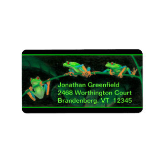 Red-Eyed Tree Frogs Label
